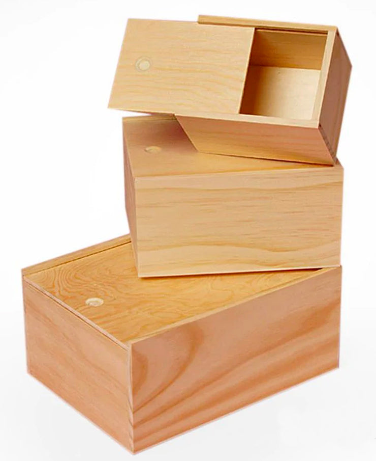 slide top wood box - for gifting and storage