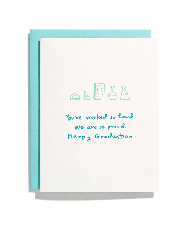 you've worked so hard graduation card