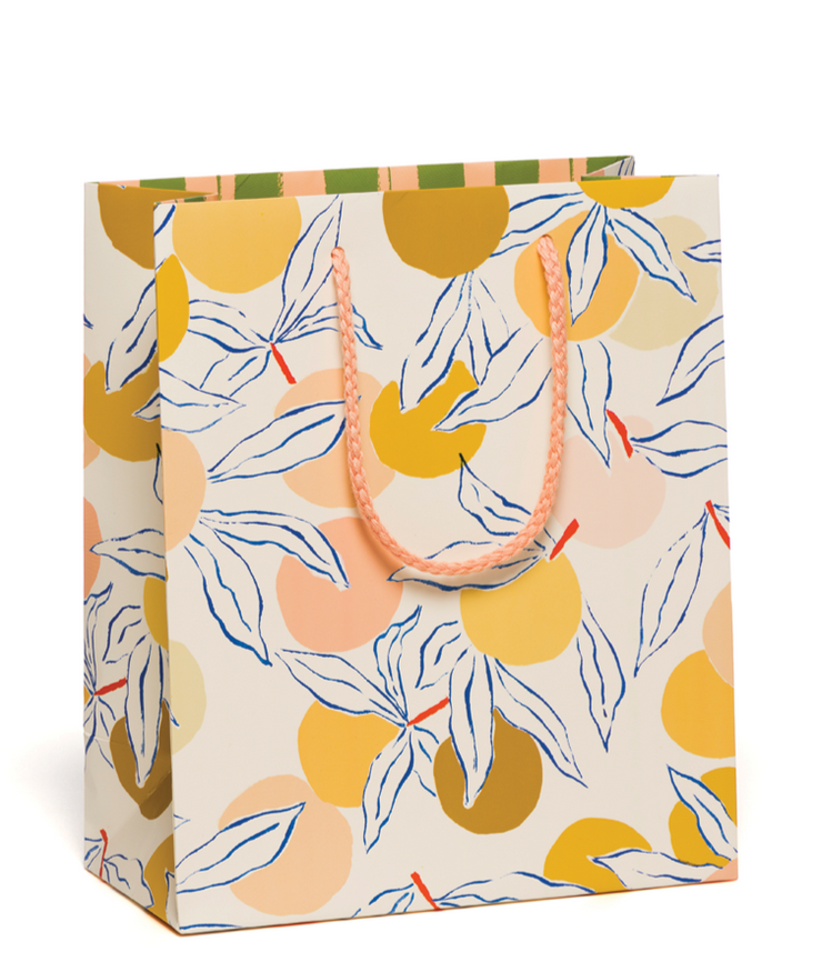 peaches medium gift bag
