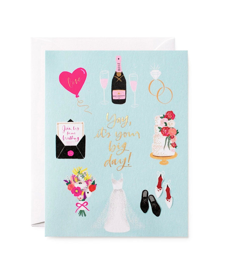 yay it's your big day wedding card