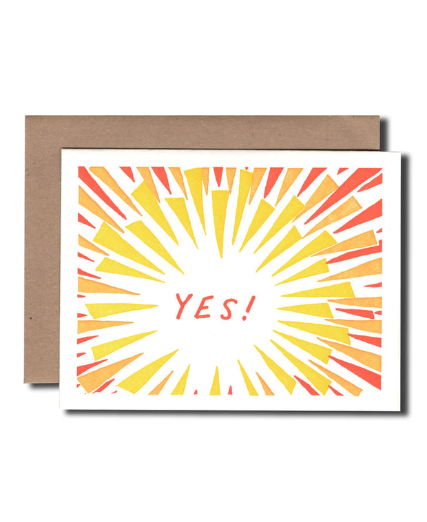 yes! explosion congrats card