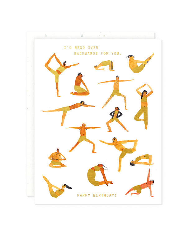 yoga poses birthday card