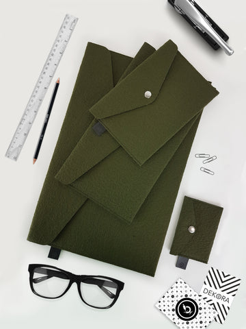 A Set Of Envelopes Dark Green - Dekora.Fashion