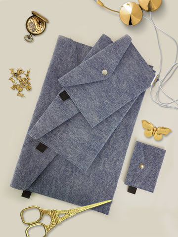 A Set Of Envelopes Blue Melange - Dekora.Fashion