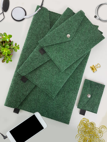A Set Of Envelopes Green Melange