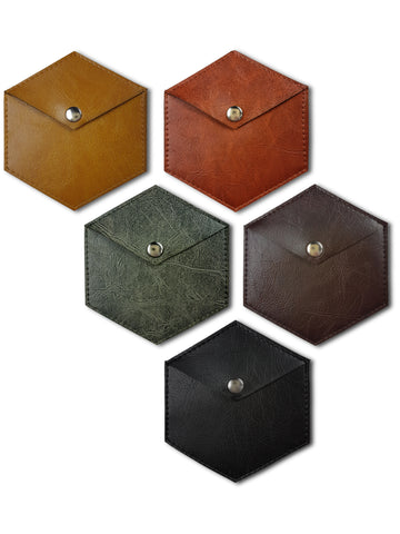 eco leather wallets ginger caramel brown green tea black