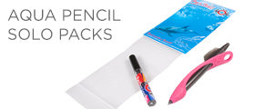 Scuba gear aqua pencil solo packs