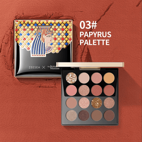 ZEESEA X THE BRITISH MUSEUM Enchanting Egypt Eyeshadow Palette 16 Shades