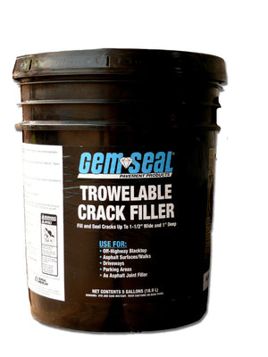 GEMSEAL TROWELABLE CRACK FILLER - 5 GAL.