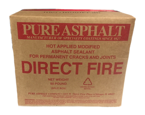 Pure Asphalt Direct Fire Crack Filler - 50# Box