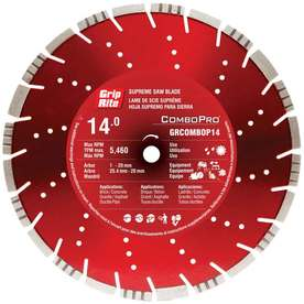 "14"" Combo Turbo Segmented Diamond Blade GRCOMBOP14"
