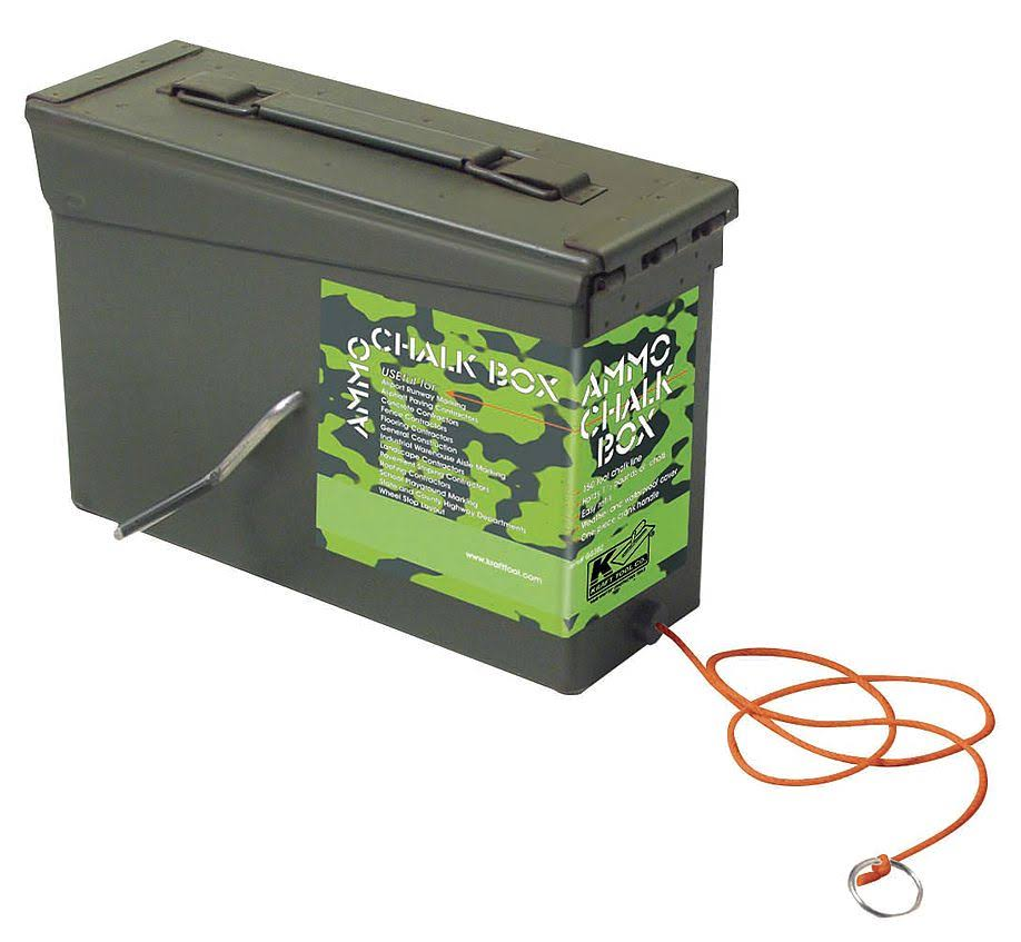 Ammo Style Chalk Line Box - 150' Camo Green