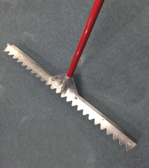 "36"" Asphalt Lute - Serrated - 6' Handle"