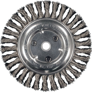 "8"" Pferd Full Cable Twist Knot Wheel Brush"