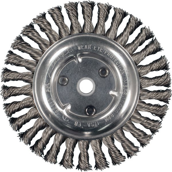 "8"" Full Cable Twist Knot Wheel Brush"