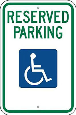 RESERVED PARKING (HC) NO ARROW