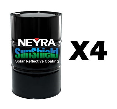 SunShield - Solar Reflective Coating – (4) 55 Gal Drums
