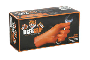 Tiger Grip 7 mil Superior Grip Orange Nitrile Gloves - Box