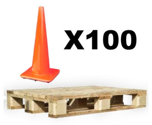 "28"" Trimline Traffic Cones - Blemished - Pallet of 100"