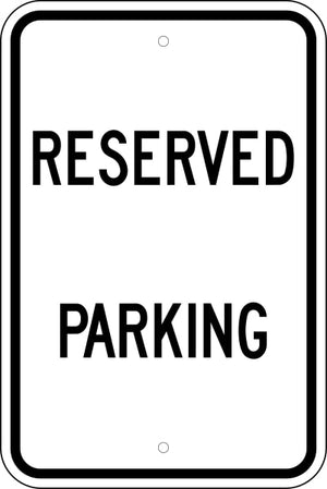 Reserved Parking Black / White Free Shipping