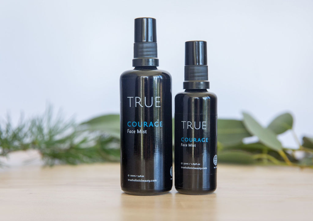 Two bottles of hydrating face mist