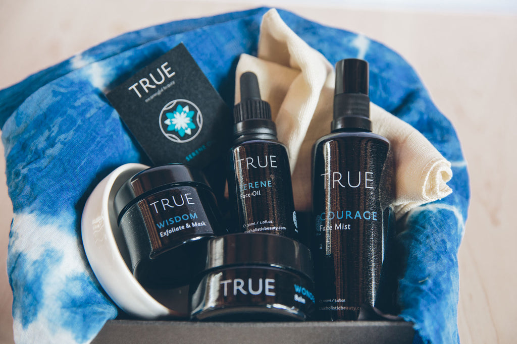 True Holistic Facial Box close up - Natural Skin Care Product Collection