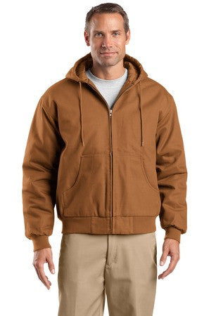 CornerStone® - Duck Cloth Hooded Work Jacket.  J763H