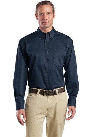 CornerStone® - Long Sleeve SuperPro Twill Shirt. SP17