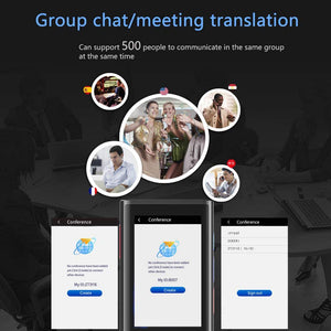 Antye Office Supplies > Office Equipment > Electronic Dictionaries & Translators [2020 Update] Automatic 117 Languages Translator, 4G Interpreter, Offline Translation,Electronic Pocket Voice/Text Bluetooth Translator, Real Time Smart Translator