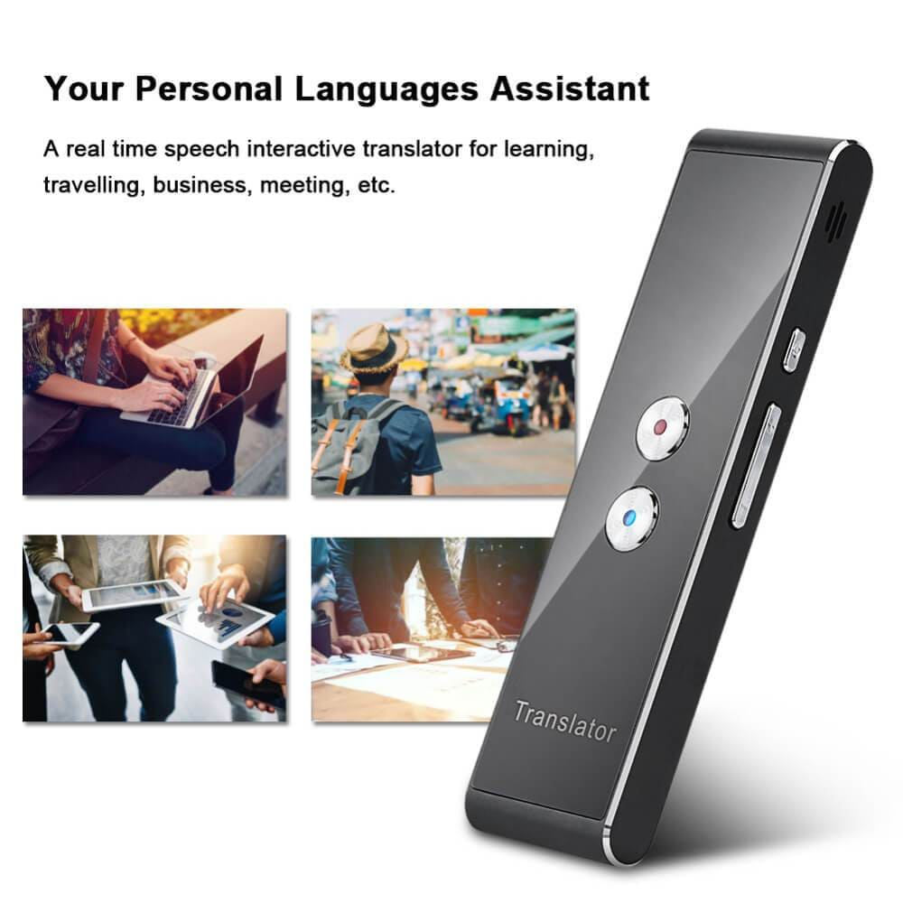 Antye Office Supplies > Office Equipment > Electronic Dictionaries & Translators Multi-Language Portable Smart Two Way Voice Translator Support 44 Languages