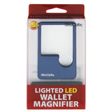 Lighted 2x Wallet Magnifier w/ 6x Bifocal comes in 4 colors