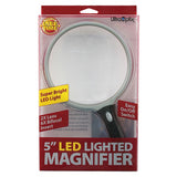 "5"" Round LED Lighted 2x Magnifier w/ 6x Bifocal"
