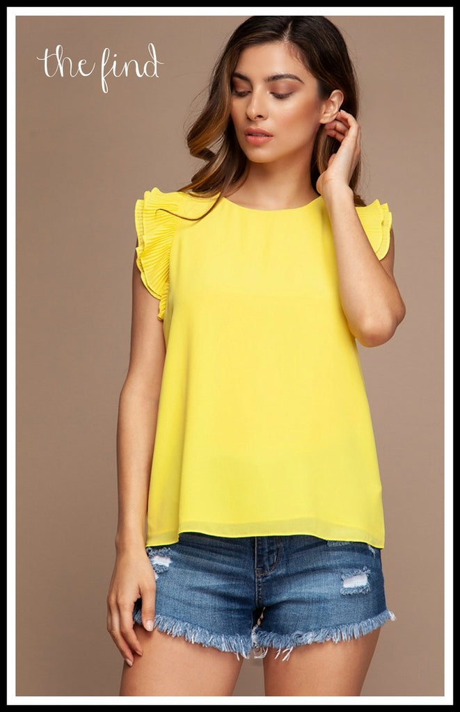 Blake Top in Buttercup
