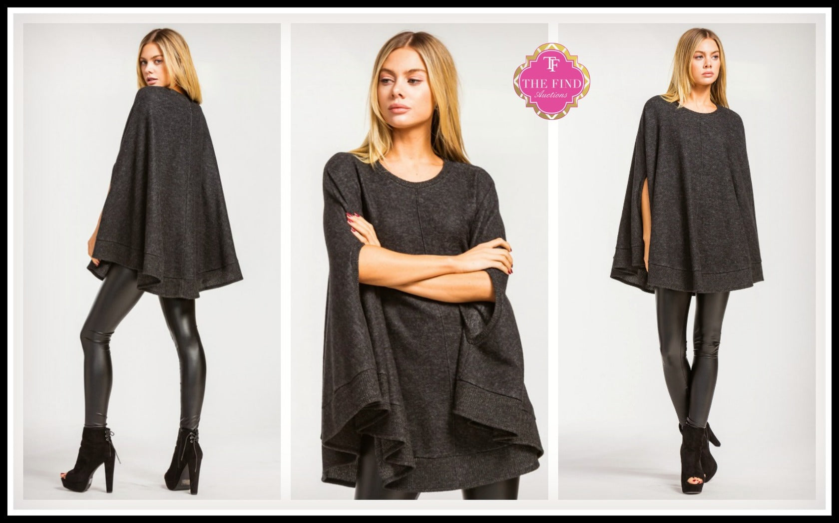 Callie Tunic in Charcoal