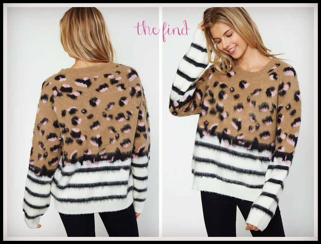 Cannon Animal Print Sweater