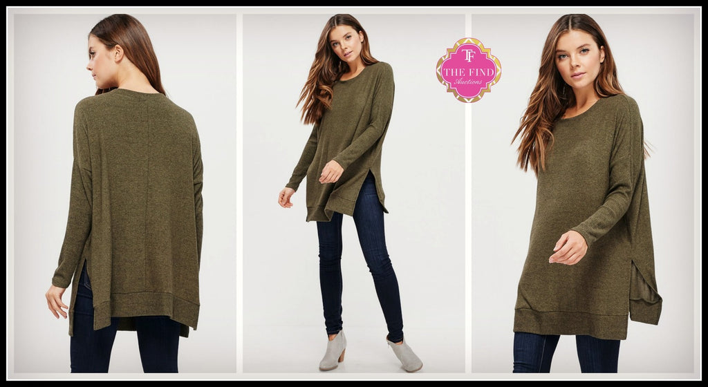 Coleman Top in Olive