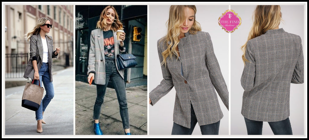 Hatcher Plaid Blazer