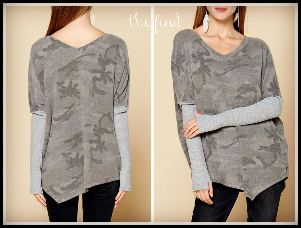 Heather Camo Layer Top