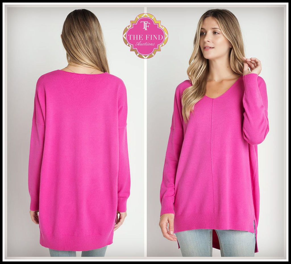 Keely Sweater in Hot Pink