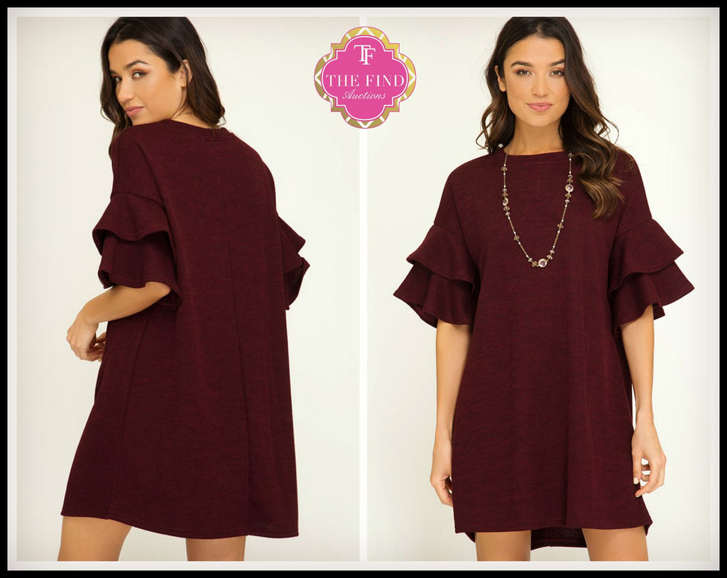 Layne Ruffle Sleeve Dress