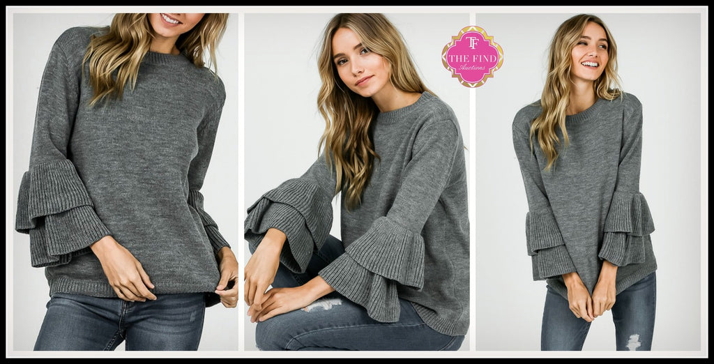 Miles Double Ruffle Sweater ~Pre-Sale
