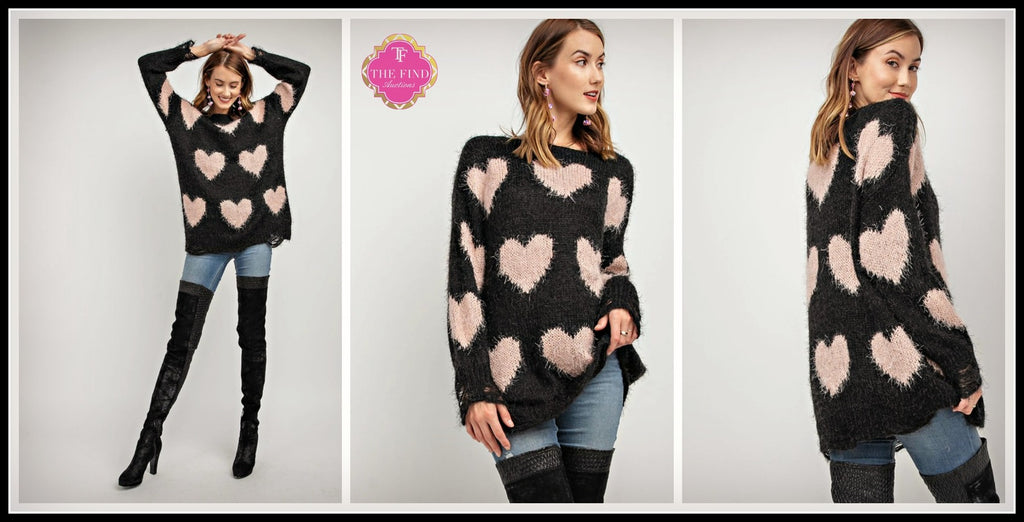 Paige Heart Sweater
