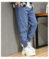 Stripe  Loose Fit Cargo Pants
