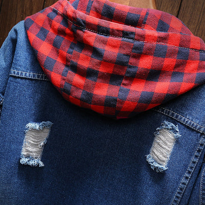 Winter Distressed Denim Jacket