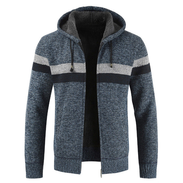 Cardigan Jumpers Men Striped