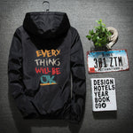 Everything Will be Ok Windbreaker Hoodie
