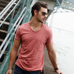 O-neck Slim Fit Solid Color T-shirt
