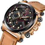 Men Watch Leather Automatic