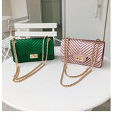 Chain Jelly Bag PU Leather