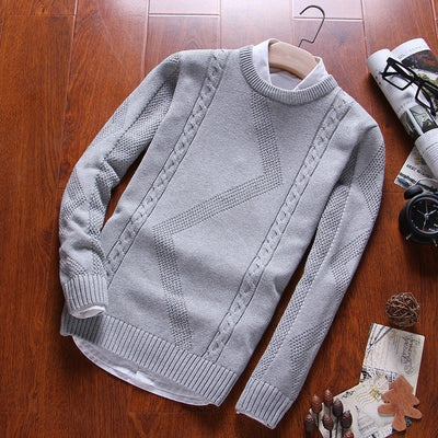 Pullovers O Neck Cotton Knit Sweater
